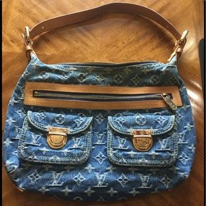 Louis Vuitton Denim Baggy PM Bag